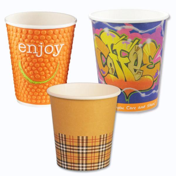 Unterschiedliche Designs Kaffeebecher
