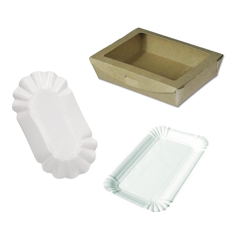 Einwegartikel aus Plastik und Pappe