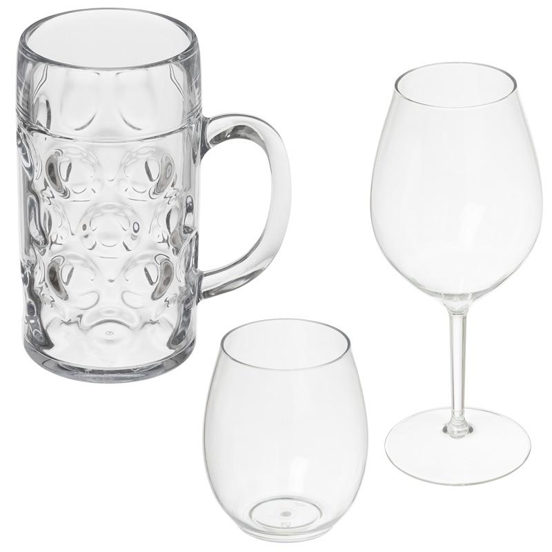 Unzerbrechliche luxuriöse Gläser aus Plastik