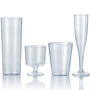 Gläser aus Plastik