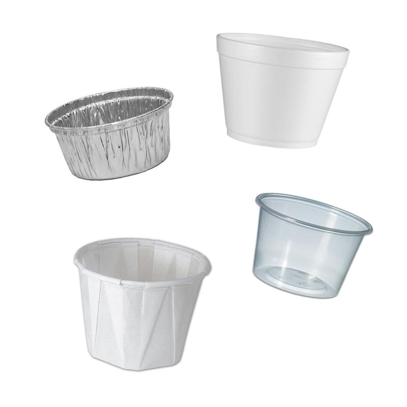 Soße Cups und Deckel