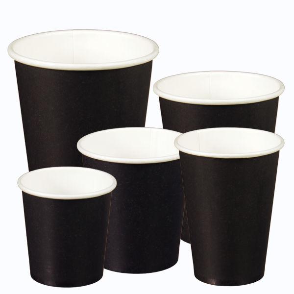 Schwarze Kaffeebecher
