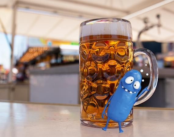 Bier? Unzerbrechliches Bierhumpen!
