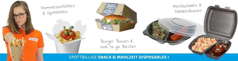 Takeaway und Food Verpackungen