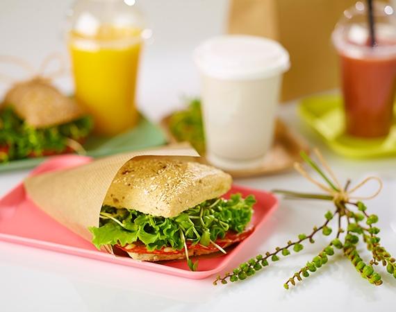 Sandwiches verpacken? Günstige Nature Kraft Tüten!