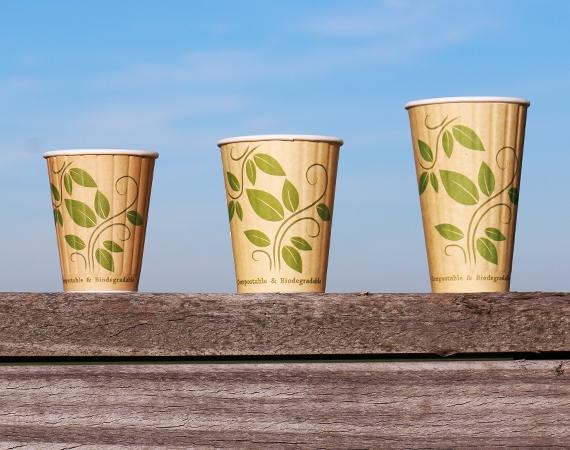 Gobelets à café biologiques au look kraft!