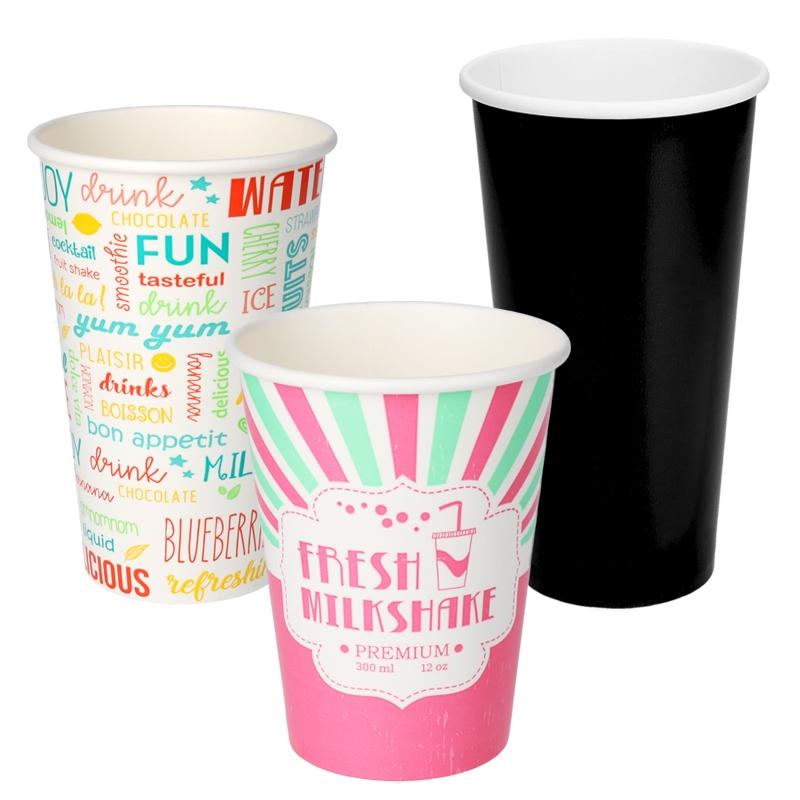 Milkshake cold paper cups