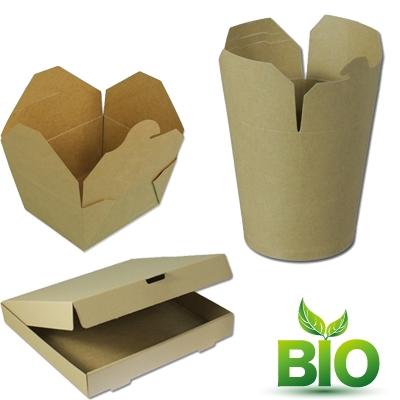 Gobelet Wok & boîtes à pizza BIO