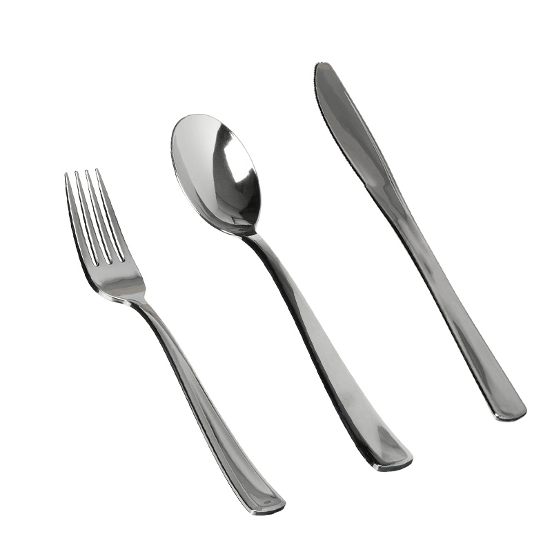 Metalized cutlery