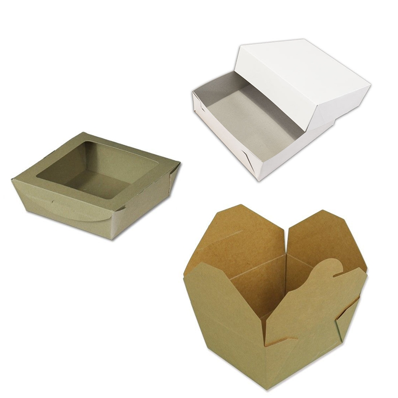 Cardboard bakery boxes