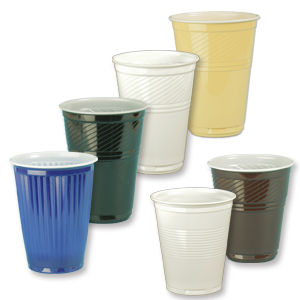 Plastic coffee cups