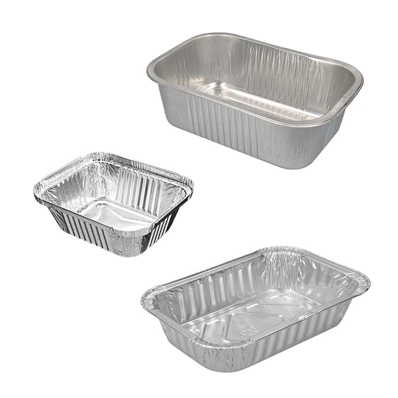 Aluminium rectangular containers & lids