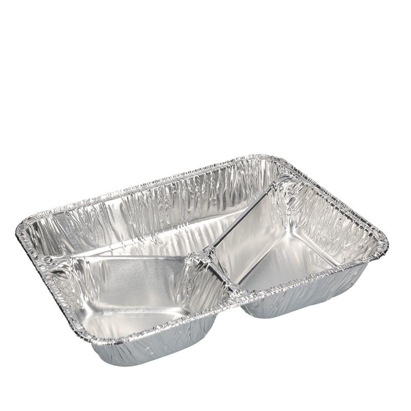 Abbildung von Aluminium meal tray 3 compartments