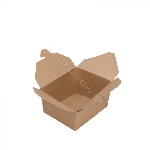 BIO Cardboard Asian takeaway box 700ml Nature Kraft small