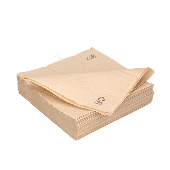 BIO napkins 33cm 1-ply natural