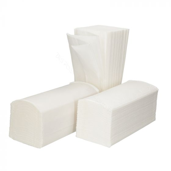 Hand Towel Z fold 2 ply 21x25cm Bright White
