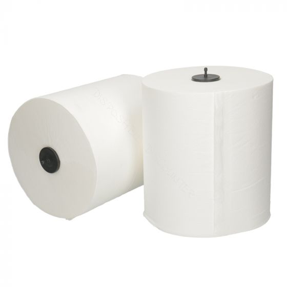 Hand towel rolls Euro matic white 2-ply
