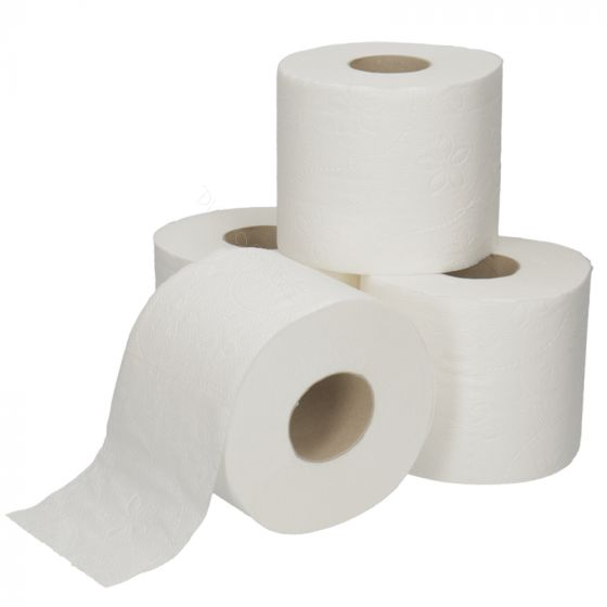 Toilet Paper Cellulose 200 sheets 2 ply Bright White