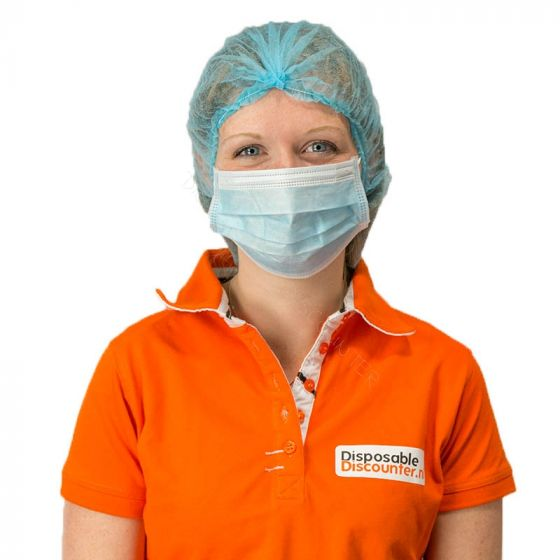 Mouth Face Mask Nonwoven 3 layers Blue 95% BFE