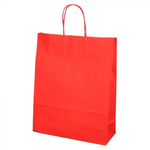 BIO Shopping Bags 32+12x41cm Red