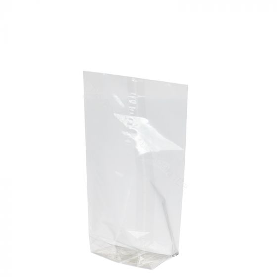 Cross bottom bags 120x225mm clear