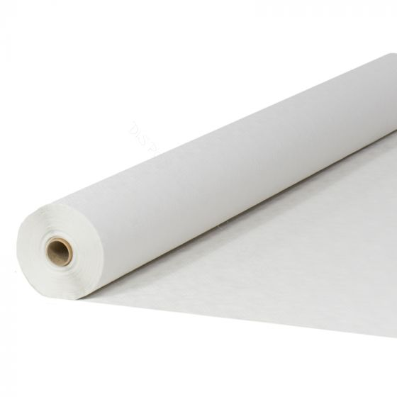 Damask paper table roll white 1.20x100m