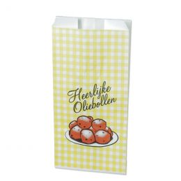 Paper bag for hot sweet snacks with 'oliebollen' design 1000g no 28