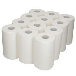 Wiper Mini Centerfeed 1 ply 120m Bright White