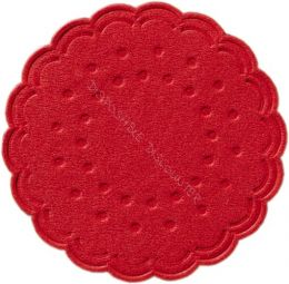 Coasters tissue Ø 7,5 cm - 8 ply red