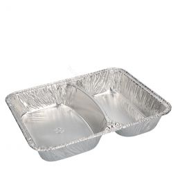 Aluminium meal tray 2 compartments