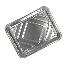 Meal tray 1 compartment aluminium low