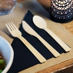 Fourchette en bambou BIO 170mm, vendue par paquet