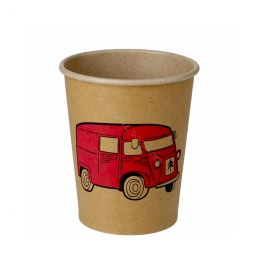 Paper Cups Nature Kraft printed with your logo!