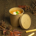 Gobelet soupe à emporter BIO en Kraft 437ml 16oz brun