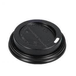 Travel lid for Paper Cups Coffee To Go 240ml 8oz Black