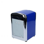 Distributeur inox bleu pour 250 serviettes pliage compact