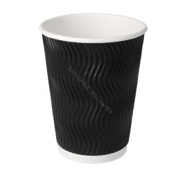 Paper Cups Coffee To Go double wall 12oz 350ml black