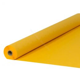 Damask paper table roll golden yellow 1.20x50m