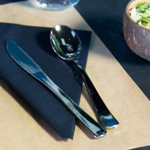 Couteau robuste en PS 20,1cm aspect métal