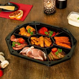 Catering CS trays 7 compartments black
