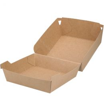 Boîte à hamburger en carton Kraft grand modèle