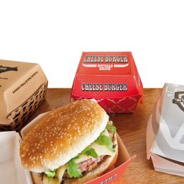 Burgerboxes cardboard printed with your logo!