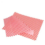 Feuilles en papier rouge blanc pour hamburger 31x38cm
