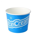 Cardboard ice cream cup 350ml 12oz Ice Cream large blue