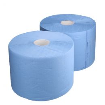 Heavy-duty industrial paper 22cm x 360m 3-ply blue