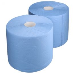 Heavy-duty industrial paper 37cm x 360m 2-ply blue
