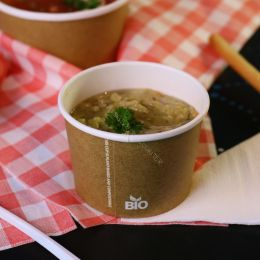 BIO cardboard soup cup 250ml compostable brown