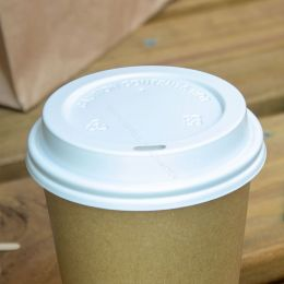 White lid for Takeaway coffee cup 300cc - 350cc - 450cc