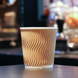 Paper Cups Coffee To Go double wall 6.5oz 177ml brown