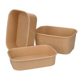 Cardboard Microwave Container 500ml White